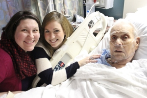 Me, Lauren and Grandpa on his 93d birthday.